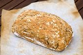 stock photo of home-made bread  - Horizontal picture of bread made at home - JPG