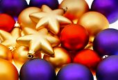 foto of lilas  - christmas balls decoration - JPG