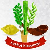 picture of sukkot  - Rosh hashana card  - JPG