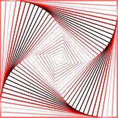 pic of quadrangles  - Design colorful twirl movement illusion background - JPG