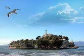 image of alcatraz  - Alcatraz Island in the San Francisco Bay - JPG