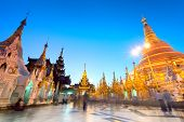 stock photo of yangon  - Shwedagon Pagoda in Yangon - JPG