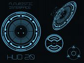 pic of futuristic  - Futuristic blue virtual graphic touch user interface HUD - JPG