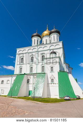 Cathedral Located Since 1589 In Pskov Krom