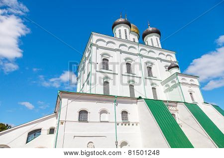 The Trinity Cathedral Located In Pskov