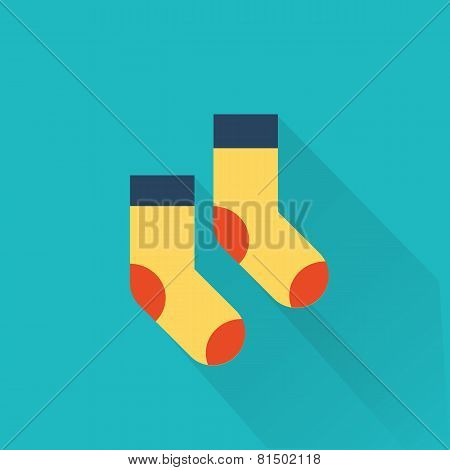 vector socks icon