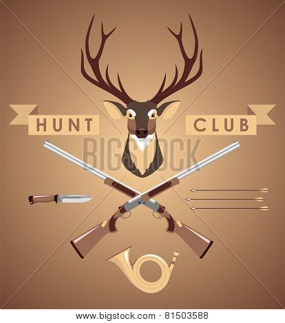 Set of hunting design elements