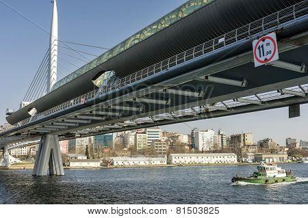 Halic Metro Bridge, Istanbul, Turkey