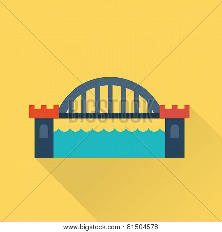 Vector bridge flat icon