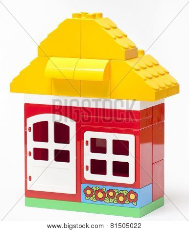 The House Construction By Lego Blocks
