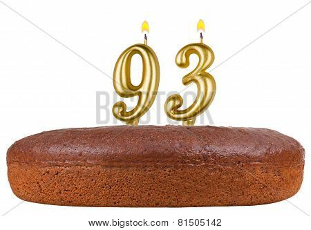 Birthday Cake Candles Number 93 Isolated
