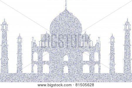 Taj Mahal - mesh of little squares