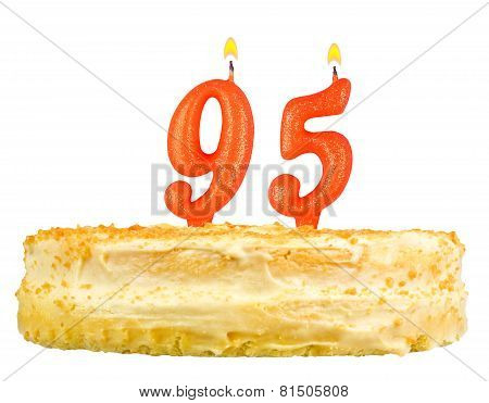 Birthday Cake With Candles Number Ninety Five