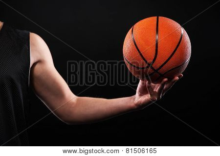 Close up of arm with focus point on ball