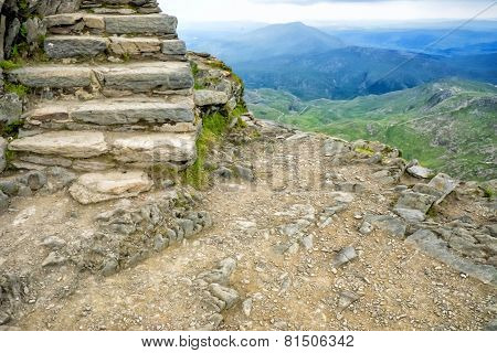 Steps To The Top Of Mt Snowdon