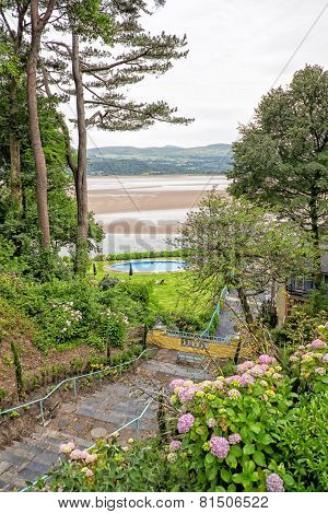 View Down To The Sea From Portmeirion