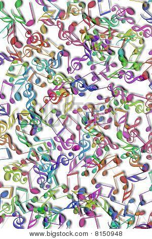 Fondo de notas musicales