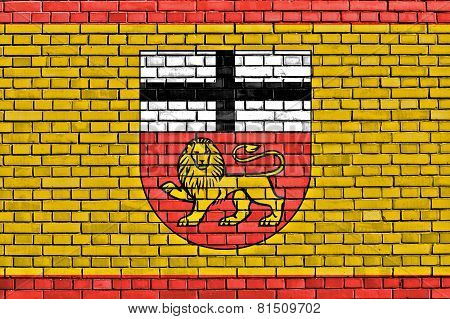 Flag Of Bonn Painted On Brick Wall