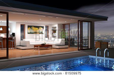 3D rendering / Modern House