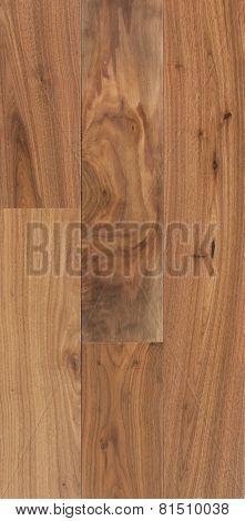Wood Texture Of Floor, Walnut American, Parquet.
