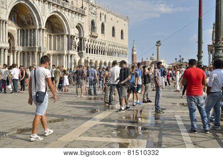 Tourist In Saint Mark Plaza