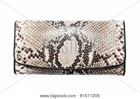 snake skin leather bag