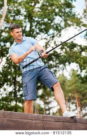 Man Fishing.