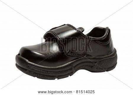 Shoes for children. Black shoes