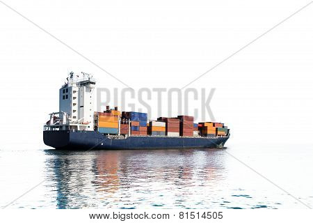 Container Ship Silhouette