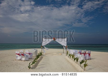 Beach Wedding In Maldives