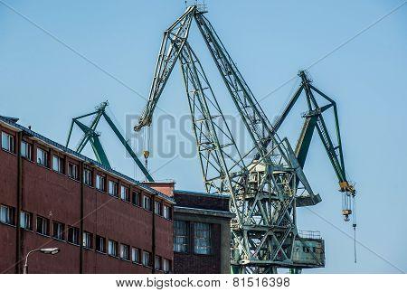 Cranes In Gdansk