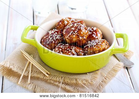 Teriyaki Chicken Meatballs