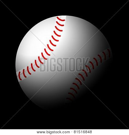 Baseball Ball Black