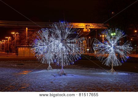 Led Light Decorations In Moscow