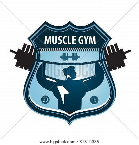 gym vector logo design template. heavy athletics or sports icon.