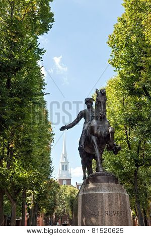 Boston Paul Revere Statue