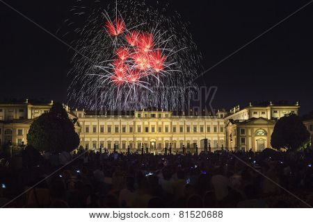 Fireworks On The Villa Reale Monza