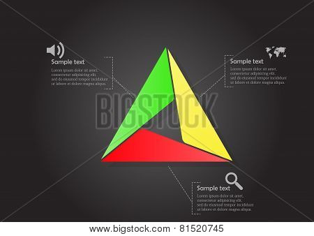 Infographic With Main Triangle Consists Of Smaller Ones