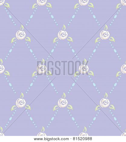 Rose And Pearl Pattern Romantic