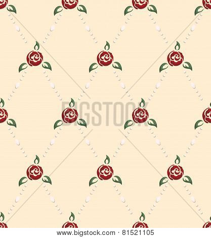 Rose And Pearl Pattern Pinup