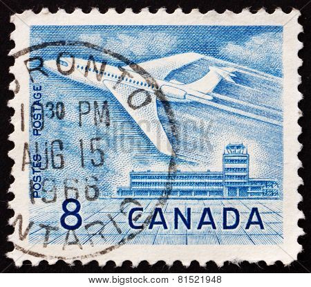 Postage Stamp Canada 1964 Jet At Ottawa Airport