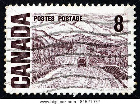 Postage Stamp Canada 1967 Alaska Highway, By A. Y. Jackson