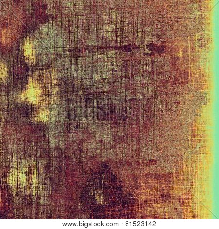Abstract old background or faded grunge texture. With different color patterns: yellow (beige); brown; purple (violet); cyan