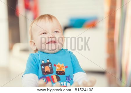 Portrait Smiling Baby