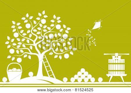 Apple Harvest Border