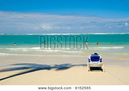 Hamacas en la playa.