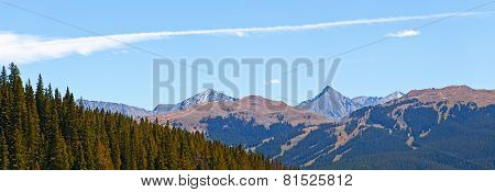 Landscape panorama of beautiful mountain