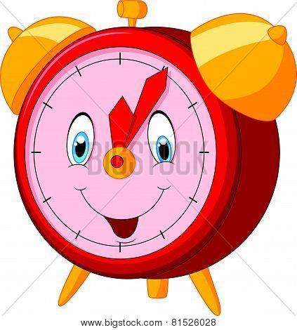 Cartoon happy clock