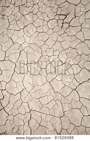 Background of dry clay soil in the arid desert of Utah