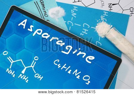Tablet with the chemical formula of   Asparagine